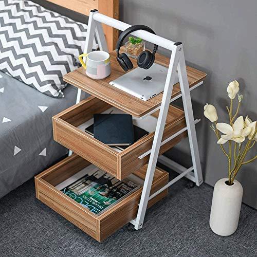 Schön Wohnzimmer Kaffeetische Beistelltisch, Beistelltisch, Sofa, Tisch/Kaffee/Snack/Storage Table Mit Rädern und Schublade, for die Artikel Büro, for Zuhause, Wohnzimmer, Büro (Color : Beige)