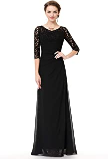 floor length black tie dress