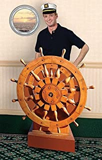 Nautical Sailor Captain's Wheel Standup Photo Booth Prop Background Backdrop Party Decoration Decor Scene Setter Cardboard Cutout