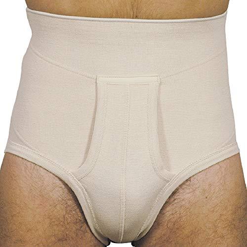 MANIFATTURA BERNINA Derby 65134 (Talla 4) - Faja Slip Hernia inguinal para Hombre con Refuerzo Interno