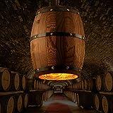 Retro Hanging Wood Wine Barrel Lamp Whiskey Barrel Creative Chandelier Rustic Unique bar Lights for Bar Cafe Restaurant E27 Light Home Decor