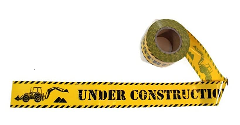 TorxGear Kids Under Construction Party Tape! - 300 Foot Roll, 3