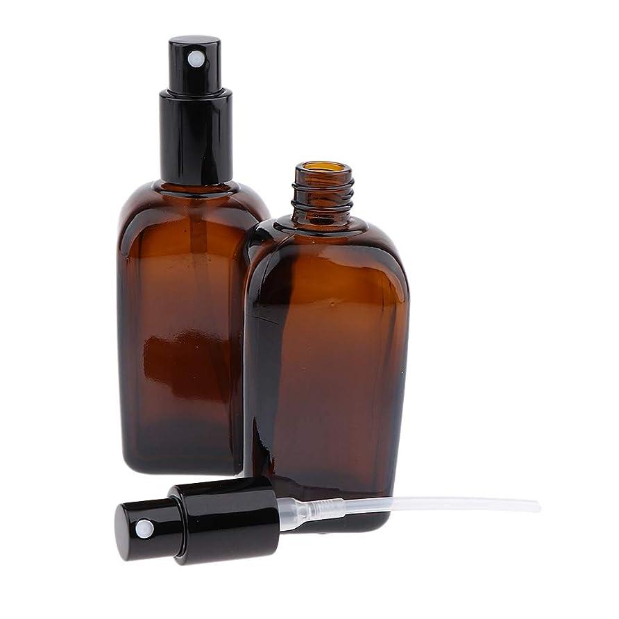 それから名義で使役F Fityle 2本 ポンプスプレーボトル 香水ボトル 噴霧器 ガラスびん 5サイズ選べ - 100ml