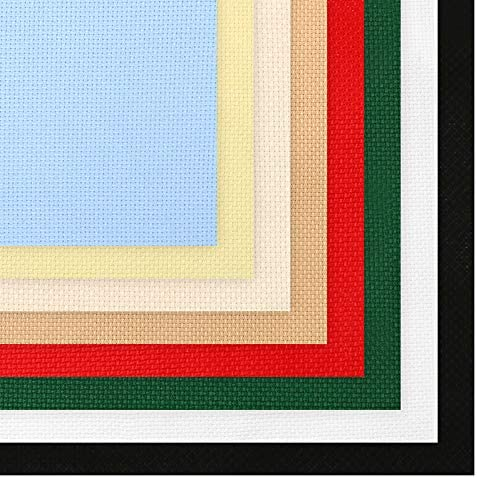 Caydo 8 Pieces Aida Cloth 8 Color 14 Count Classic Reserve Cross Stitch Fabric 12 by 18 Inch product image