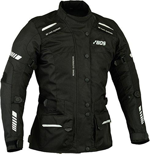 BOS Damen Motorrad Jacke Motorradjacke Textil Schwarz Gr M/38
