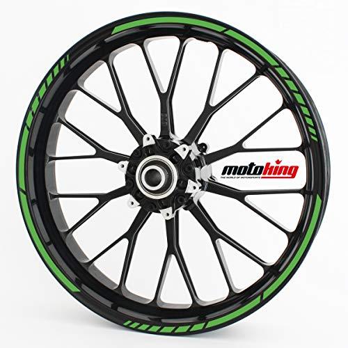 Motoking Adhesivos para Borde de llanta Verde Claro - Juego Completo de 15' a 19' / Color Opcionales