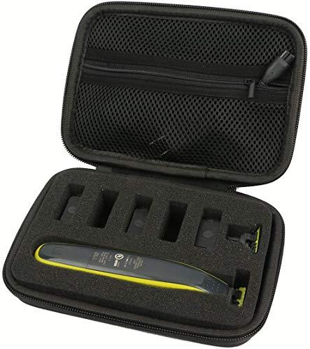 Khanka Hart Tasche Hülle für Philips OneBlade Face Body QP2520/20 QP2530/30 Rasierer Bartschneider Trimmer Etui Case.(Nur tasche)