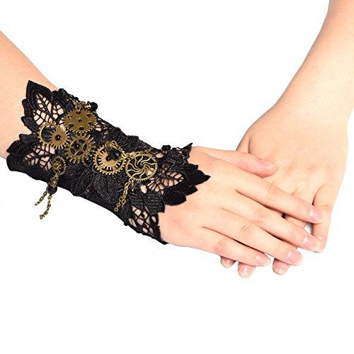 BLESSUME Steampunk Manschetten Gothic Victorian Handstulpe Armbänder (A)