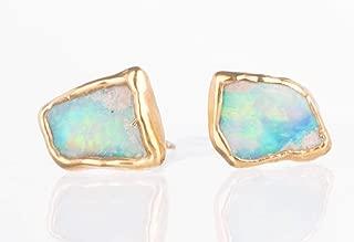 natural australian opal earrings