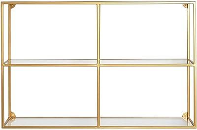 LIFA LIVING Estantería de Pared Rectangular, 3 estantes y 6 compartimientos, Estilo Moderno, Metal Negro: Amazon.es: Hogar