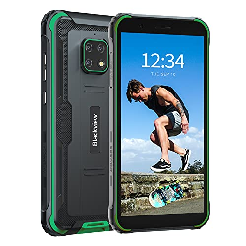 Rugged Cell Phones Unlocked Android 10, Blackview BV4900Pro GSM Unlocked Cell Phones, 4GB+64GB Octa-core Unlocked Phones, 5580mAh 5.7 HD+ Cellphone, NFC Face ID Rugged T-Mobile Unlocked Cell Phones