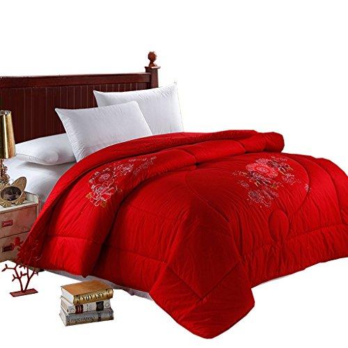MMM Literie de couette de coton de coton rouge Couette brodée de festif d'hiver (taille : 200 * 230cm)