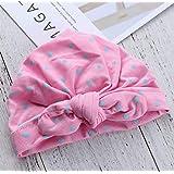 micia luxury(ミシアラグジュアリー) ベビーキャップ ドットリボン 帽子 キャンディーカラー 9色 0-2才 ピンク