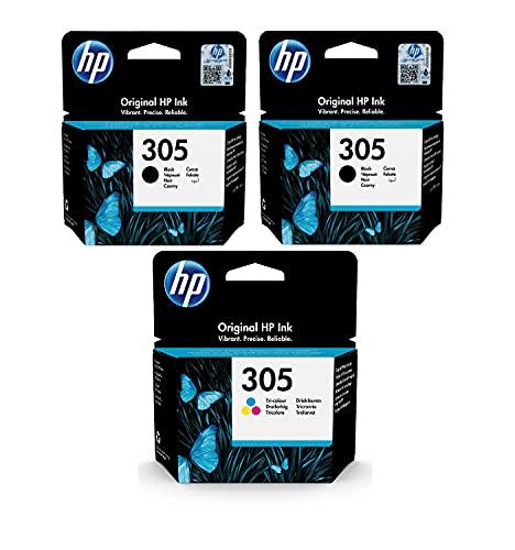 3 CARTUCCE Hp305 x2 NERO E x1 TRICOLORE PER STAMPANTI HP...