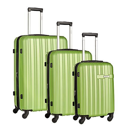 Newtour 3 Stuks Uitbreidbare Bagage Trolley Carry On Bagage Sets Hand Cabin Koffer met 4 Spinner Wielen ABS Hard Shell Lichtgewicht Reizen Bagage met TSA Lock