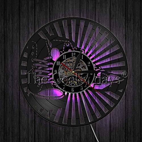 Reloj de Pared de Vinilo de 7 Colores, decoración de Vinilo, Zapatillas de Deporte, Reloj, diseño de Reloj, Arte, decoración de Pared, Zapatos, Reloj 3D, decoración del hogar
