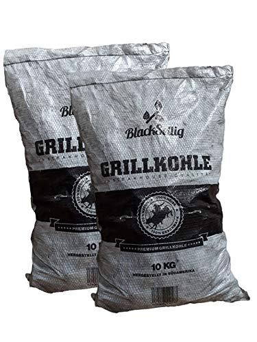 BlackSellig 20 kg Steakhousekohle Gastrosack - perfekte Profiqualität