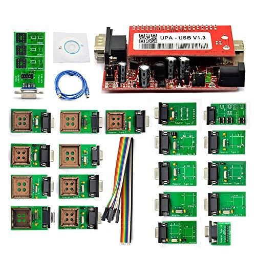 CESUO Programador UPA USB V1.3 con Adaptadores Completos Programador UPA USB UPA-USB ECU Chip Tuning OBD2 Herramienta de DiagnóStico
