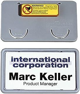 Durable 812910 Placa de identificación Clip-Card (con imán, 40 x 75 mm) Paquete de 25 piezas, gris