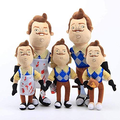 5Pcs Hello Neighbor The Neighbor Apron Cleaver Plush Toys Soft Stuffe'd Doll Children Gift 30-40cm LATT LIV