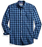 Goodthreads Standard-fit Long-sleeve Heathered Large-scale Check Shirt, Uomo, Blu (blue/navy), X-Large (Taglia Produttore: )