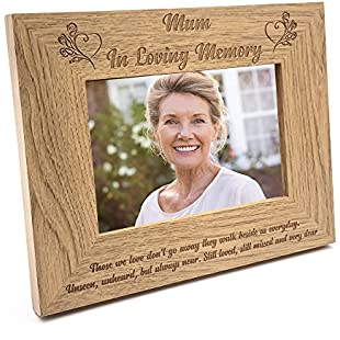 ukgiftstoreonline Mum Memorial Remembrance Photo Frame (5 x 7 Inch)