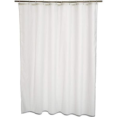 Amazon Basics Rideau de douche en polyester 180x180cm Blanc
