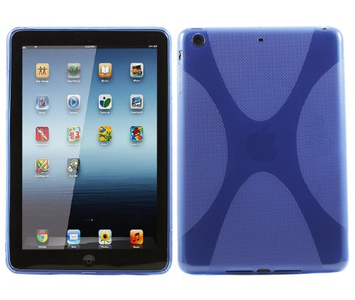 iTALKonline ProGel WAVE X-Line Duro Protector Case Grip TPU Cover Per Apple iPad Mini 2 - Nero
