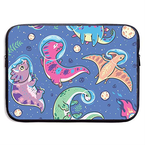 Laptop Sleeve Case Bag Cover Funny Cartoon Dinosaur Waterproof Fabric Laptop Sleeve Case for 13-15 Inch MacBook Pro/MacBook Air/Notebook Computer
