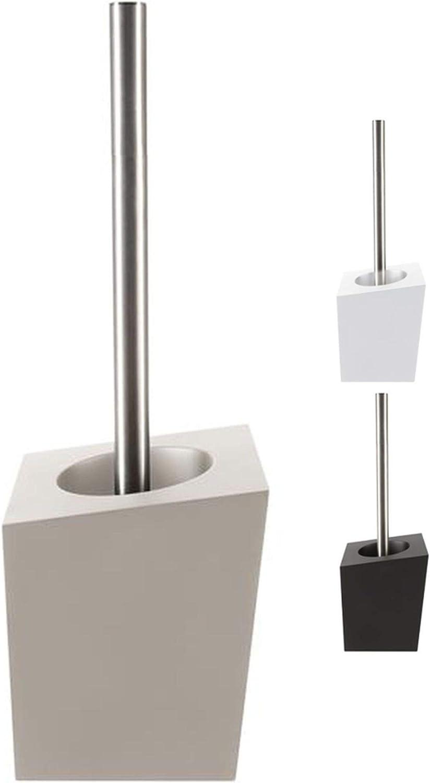 Spirella Roma WC B/ürste Toilettenb/ürste Klob/ürste WC Garnitur aus Porzellan Schwarz//Gold