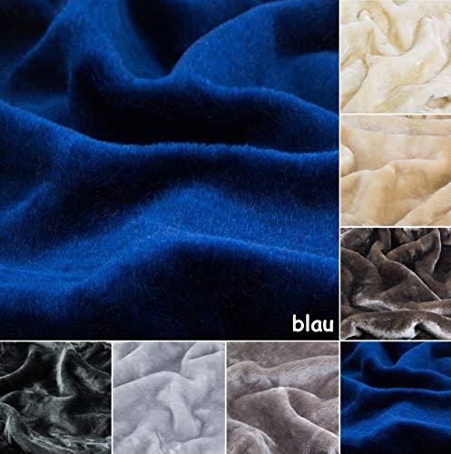 Kratzbaumland Premium-Edelplüsch für Kratzbäume (680g/m) 150 cm Rollenbreite (versch. Farben/Längen): Stofffarbe - blau, Länge - 0,5 Meter