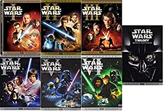 Star Wars: The Complete Saga 10-DVD Collection 6-Film Set + Bonus Material - I,II,III,IV,V & VI