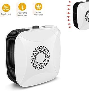 HLDWXN Portátil Mini Ventilador Calefactor, 2 Configuraciones De Temperatura (350W / 700W), PTC De Cerámica Personal del Ventilador del Calentador, De Vuelco Y Protección del Sobrecalentamiento