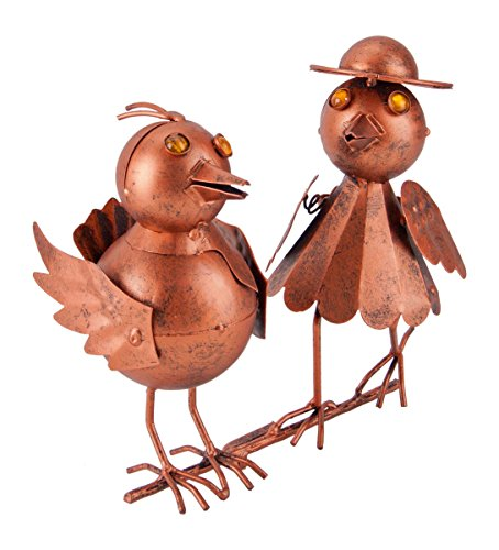 Vogelpaar Dachvogel Kupfer Look Dachrinnen Vogel f. Zaun, Geländer, Dachrinne