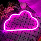 Zermie Pink Cloud Light Neon Signs Led Neon Wall Light Battery or USB Operated Neon Light Sign Led Neon Lights Cloud Lamp Light up for The Home,Kids Room,Bar,Festive Party,Christmas,Wedding