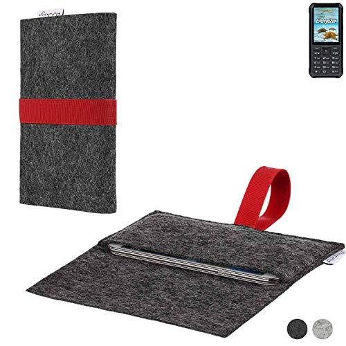 flat.design Handy Hülle Aveiro für Energizer H20 passgenaue Filz Tasche Case Sleeve Made in Germany