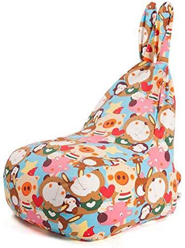 QTQZDD zitzak, loungestoel met hoge rugleuning, sofa, recliner, gaming zitzak, zitzak, vrije tijd, sofa, loungestoel, inklapbaar (kleur: F, maat: M) 2 2