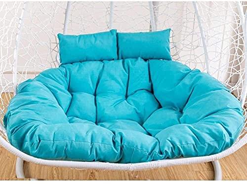 wangYUEQ Cojín para silla de huevo, para colgar en el jardín, para colgar en el jardín, con nido de huevo, para colgar en la silla, cojín de asiento para silla de jardín, color azul
