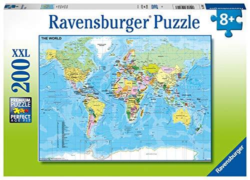 Ravensburger 128907 Puzzel Wereldkaart - Legpuzzel - 200 Stukjes