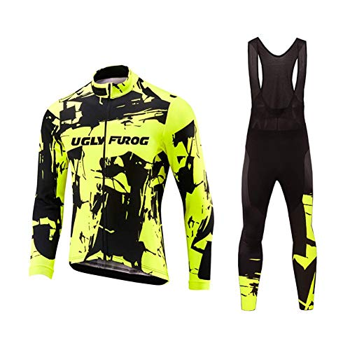 Uglyfrog 2018-2019 Nuevo De Invierno MTB Mantener Caliente Bici Manga Larga Maillot Ciclismo Hombre Bodies +Long Bib Pant with Gel...