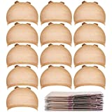Teenitor 20pcs Stocking Caps for Wigs, Beige Wig Cap for Women, Stretchy Nylon Wig Cap