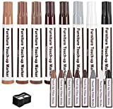 Furniture Markers,17PCS Wood Repair Markers Touch Up Filler Wax Sticks with Sharpener Kit for Floors, Tables, Door, Stairs, Wooden Furniture Stains Scratch Cover Crayon Color Restore Pen Set
