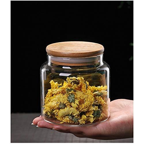 hsy Recipientes de Almacenamiento de Alimentos de cerámica,Chatney Gabinete de bocadillos para Cocina Contenedor de Almacenamiento de Cereales de Bote de Alimentos Cocina Sweet Jar Tapa