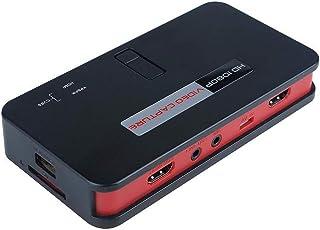 ezcap284 1080P H.264 ビデオキャプチャーボックス USBメディアとSDカードに録画 RCA コンポジット コンポーネント HDMIパススルー PS4 PS3 Xbox 360 One Wii U キャプチャーボード