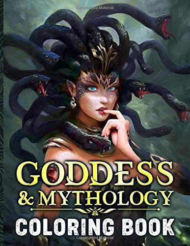 Goddess And Mythology Coloring Book: Stress-Relief Coloring Books For Adult Awesome Exclusive Images
