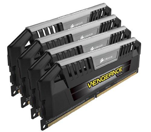 Corsair CMY32GX3M4A1600C9 Vengeance Pro Series Memoria per Desktop a Elevate Prestazioni da 32 GB (4x8 GB), DDR3, 1600 MHz, CL9, con Supporto XMP