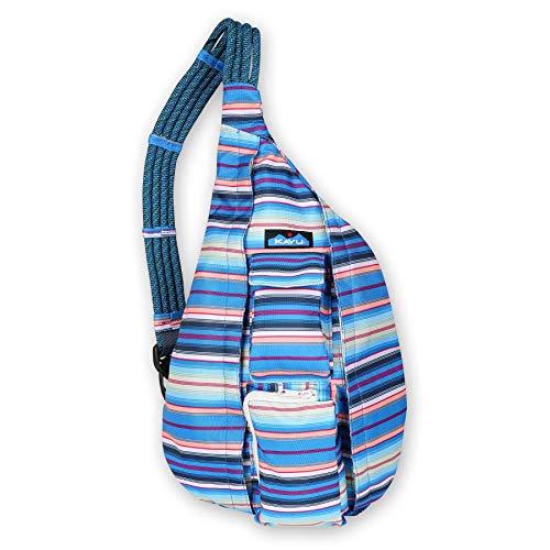 KAVU Original Rope Sling Bag Polyester Crossbody Backpack - Playa Stripe