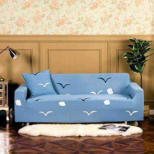 ASCV Funda de sofá geométrica Funda de sofá elástica para Sala de Estar Estiramiento Antideslizante Toalla de sofá Antipolvo Totalmente Envuelta A5 4 plazas