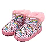 Toddler Kids Girls Boots Waterproof Ankle Hiking Boots Anti-Slip Rubber Sole Outdoor Shoes(Toddler/Little Kid) pink31