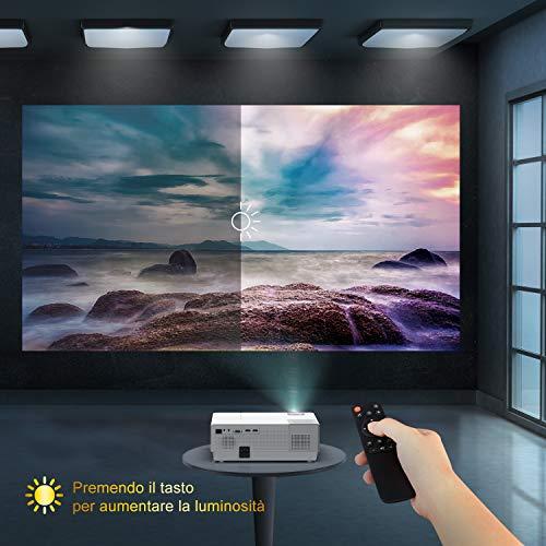 YABER Y31 Videoproiettore 1080p nativo 6500 lumen